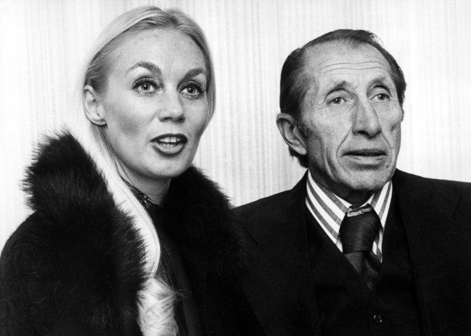 Duško Popovas, 1974-ieji Paryžiuje su savo žmona (nuotr. Vida Press)