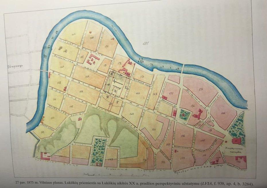 Vilniaus miesto planas XIX a.(nuotr. asm. archyv.)