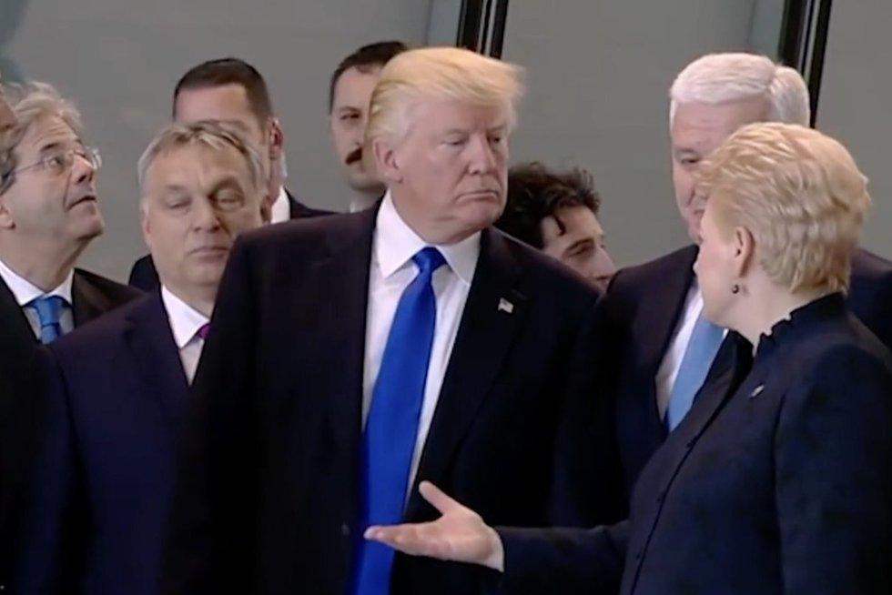 D. Trumpas ir D. Grybauskaitė (nuotr. stop kadras)