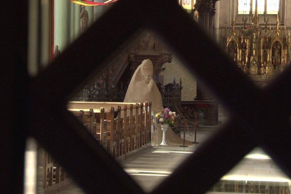 Už nepilnamečių pornografines nuotraukas ir įrašus Rokiškio kunigas sulaukė teismo verdikto (nuotr. stop kadras)