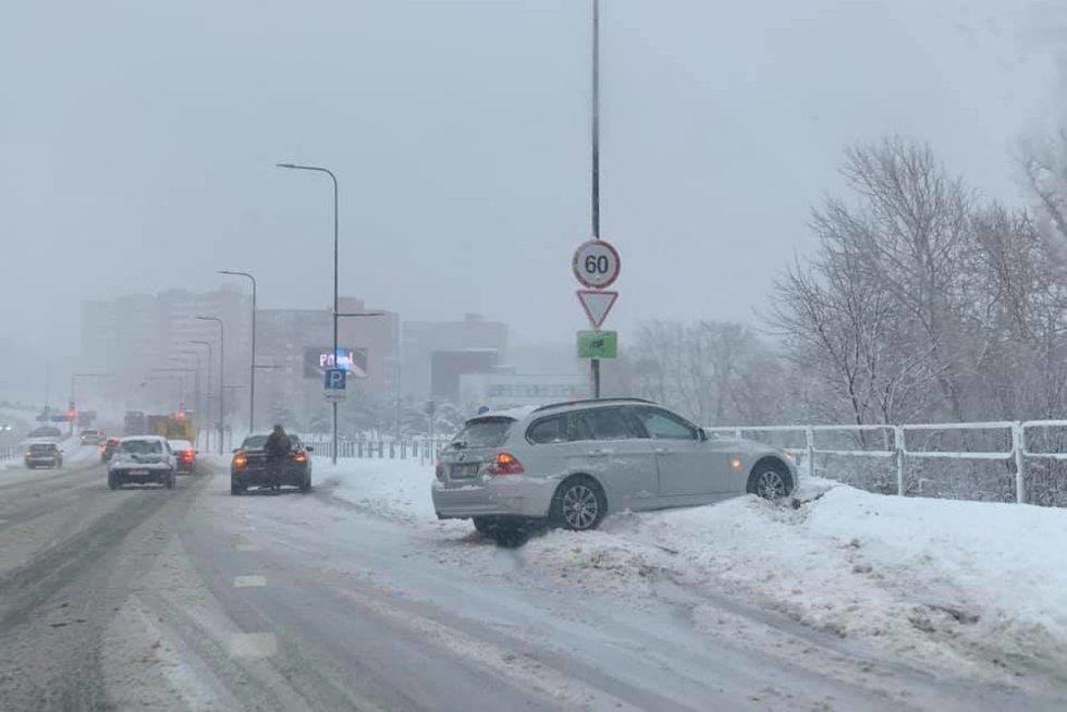 Avarija Vilniuje (nuotr. facebook.com)