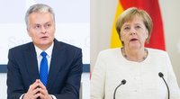 Gitanas Nausėda ir Angela Merkel (tv3.lt koliažas)