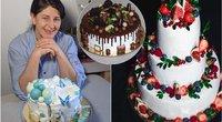 Kaunietės tortai nepalieka abejingų: užsakymų netrūksta ir per karantiną (nuotr. asm. archyvo)