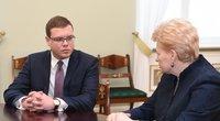 Prezidentė susitinka su kandidatu į teisingumo ministrus Juliumi Pagojumi (nuotr. Fotodiena.lt)