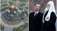 Putinas ir bažnyčia: driokstelės milžinišką kariuomenės cerkvę (nuotr. SCANPIX) tv3.lt fotomontažas