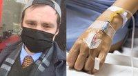 Pirmas britas užsikrėtęs koronavirusu papasakojo, kaip mirtina liga jį tiesiog pribloškė ir kaip dusinimą ir baisų skausmą teko kentėti savaites. (tv3.lt fotomontažas)