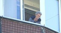 Rūkymas balkonuose (nuotr. stopkadras)
