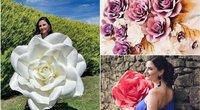 """Sandra parodė, kaip pasigaminti įspūdingas dirbtines gėles: papuoš kiekvieną šventę (nuotr. asmeninio albumo (""""Facebook"""")"""