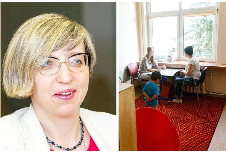 Vaiko raidos centro vadovė J. Petrulytė ir naujos patalpos, tv3.lt fotomontažas  (nuotr. Tv3.lt/Ruslano Kondratjevo)