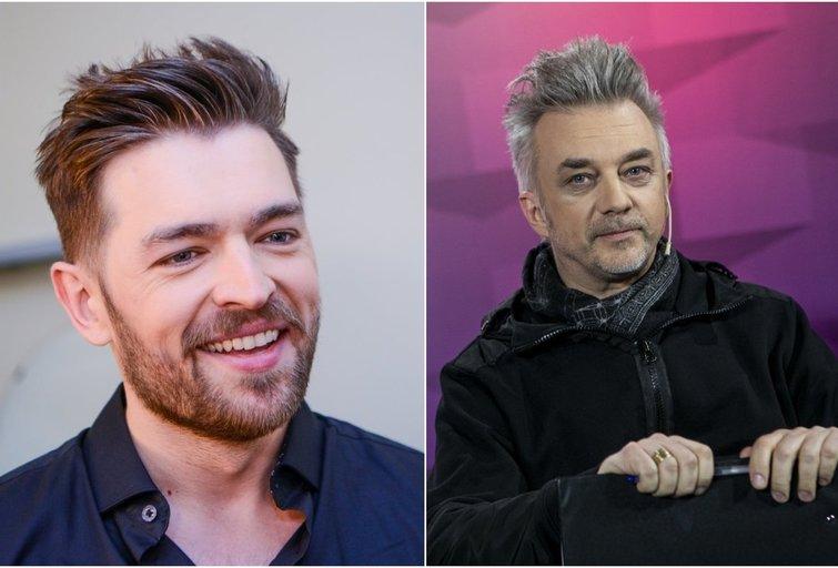 Jurijus Veklenko ir Andrius Mamontovas (tv3.lt fotomontažas)