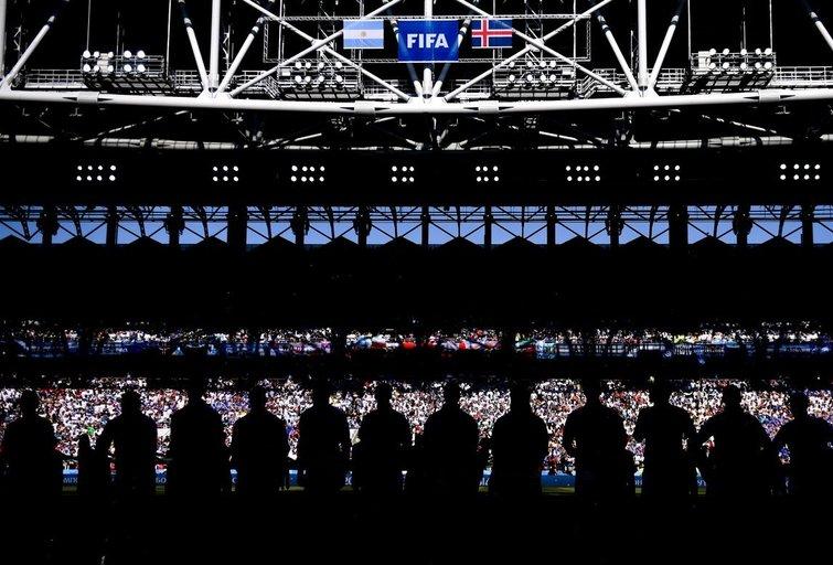 Islandijos futbolo rinktinė ir sirgaliai (nuotr. SCANPIX)