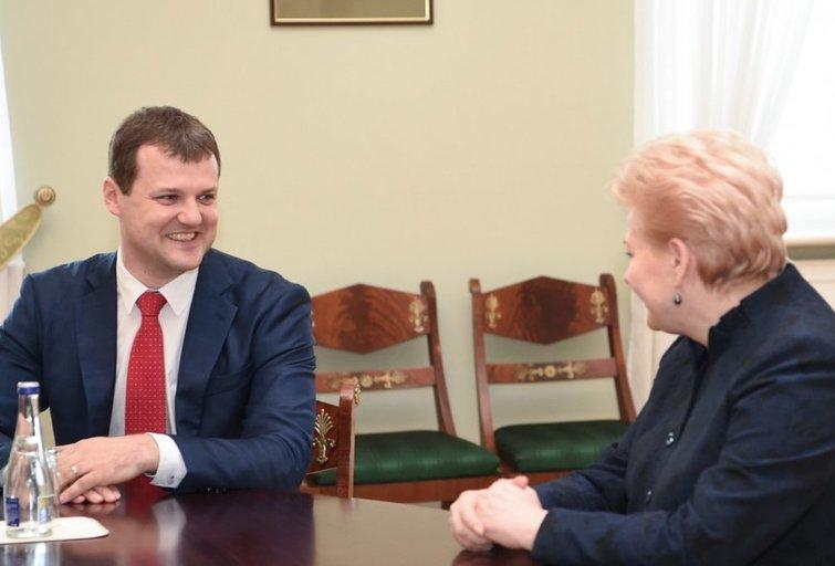 Prezidentė susitiko su naujuoju Socialdemokratų partijos pirmininku