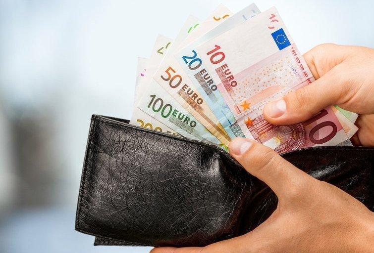 Eurai piniginėje (nuotr. Fotolia.com)