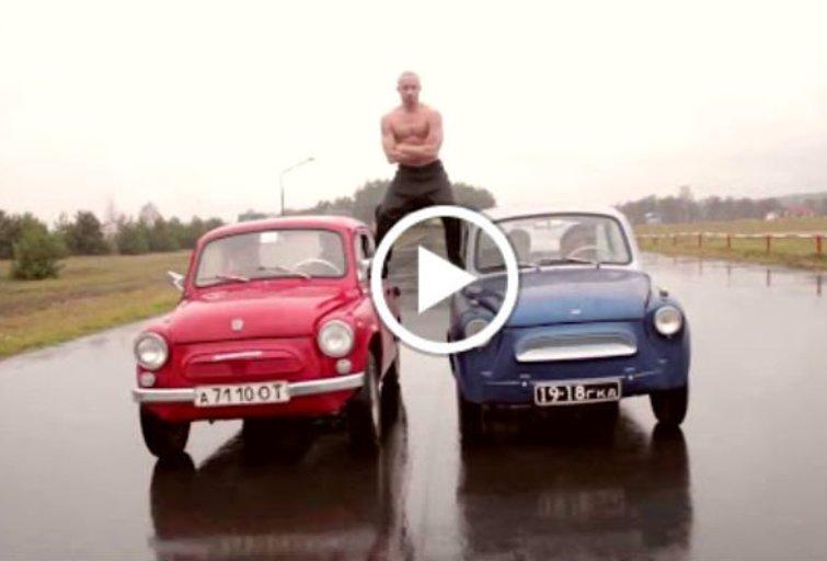 Baltarusių atsakas Jean-Claude Van Damme. (nuotr. iš vaizdo įrašo)