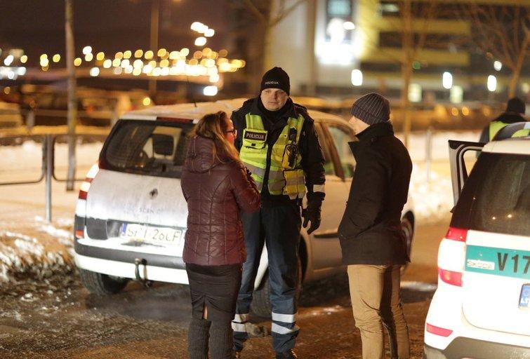 Vilniuje Lenkijos pilietė  automobiliu partrenkė dvi moteris nuotr. Broniaus Jablonsko