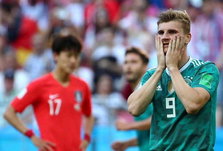 Vokietija – Pietų Korėja rungtynių akimirka (nuotr. SCANPIX)