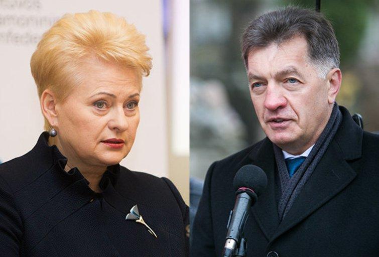 Dalia Grybauskaitė ir Algirdas Butkevičius (nuotr. BFL)