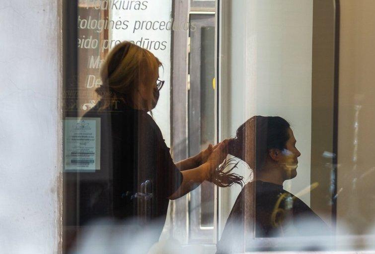 Grožio salonas (nuotr. Fotodiena/Justino Auškelio)