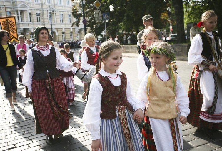 """Festivalio """"Skamba skamba kankliai"""" eitynės (nuotr. Fotodiena.lt/Roberto Riabovo)"""