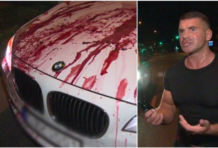 Aiškinosi, kas nutiko BMW: vaizdas priminė sceną iš kovinio filmą