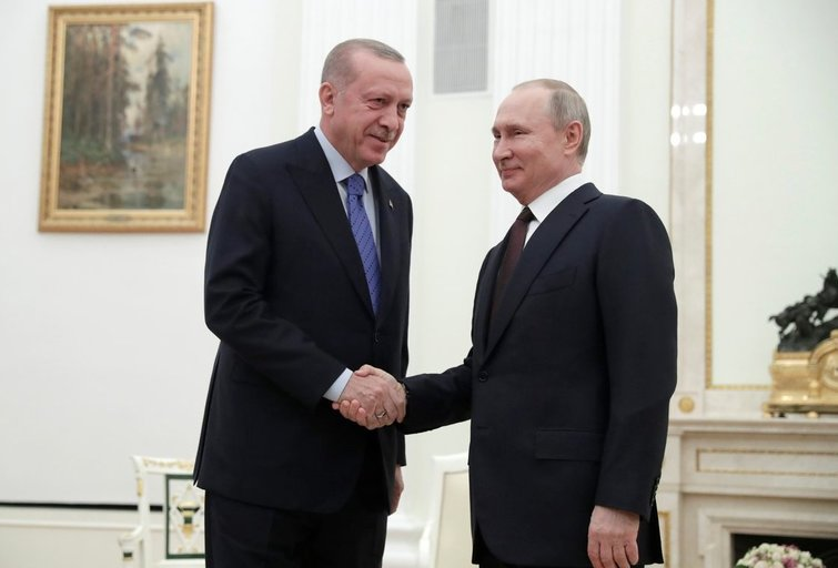 R. T. Erdoganas ir V. Putinas (nuotr. SCANPIX)