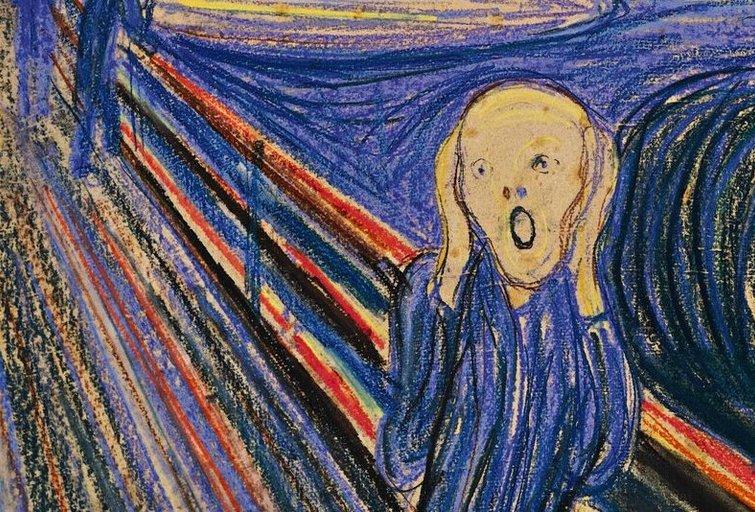 """Edvard Munch """"Scream"""" ( """"Riksmas"""")"""