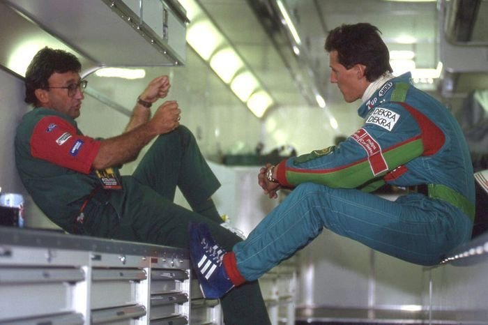 Michaelis Schumacheris ir Eddie Jordanas (nuotr. Getty)