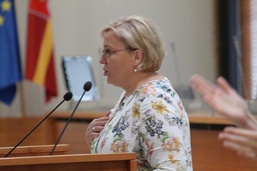 Vilniaus miesto tarybos Sveikatos ir sporto reikalų komiteto pirmininkė Renata Cytackakurčiųjų orios senatvės klausimo nepaliko be dėmesio. Jovitos Jasionytės nuotr.