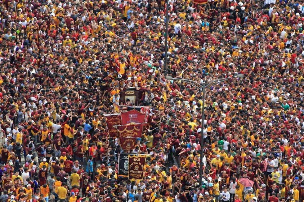 Maniloje prasidėjo krikščionių maldininkų šventė, baiminamasi teroro išpuolių (nuotr. SCANPIX)