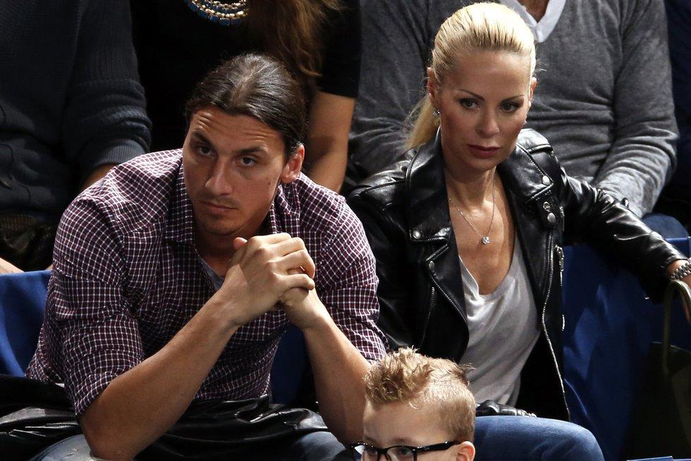 Zlatanas Ibrahimovičius su žmona (nuotr. SCANPIX)