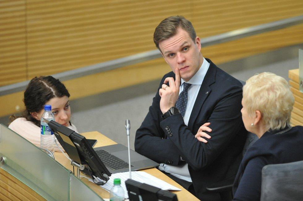 Tėvynės sąjungos - Lietuvos krikščionių demokratų partijos pirmininkas Gabrielius Landsbergis