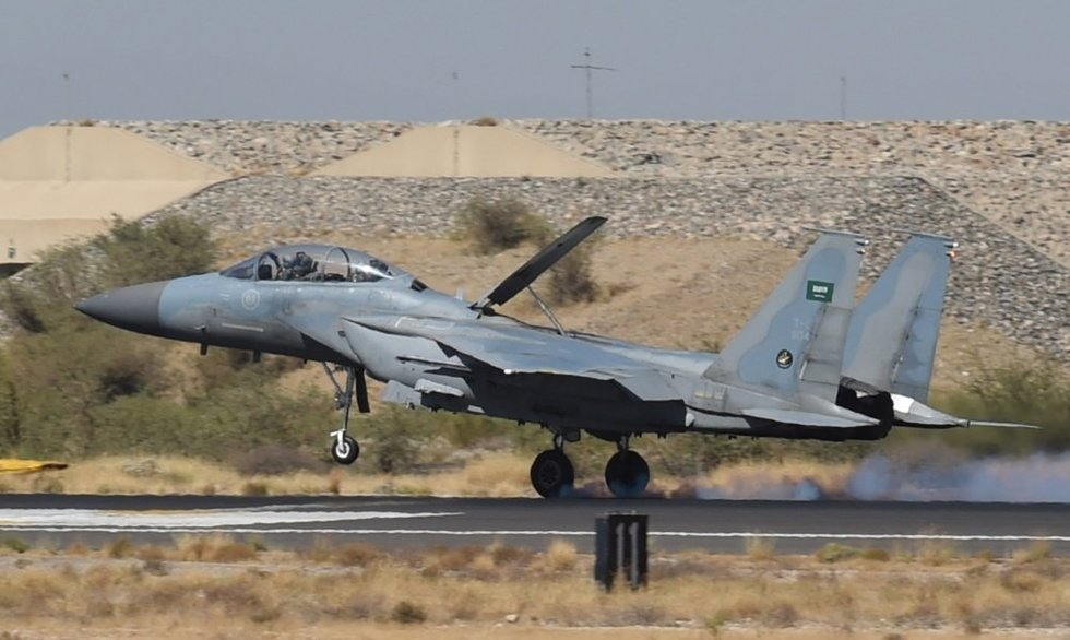 Saudo Arabijos naikintuvai (nuotr. SCANPIX)