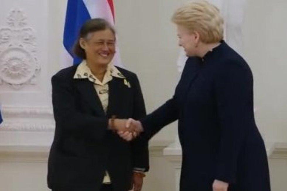 Tailando princese Maha Chakri Sirindhorn ir D. Grybauskaitė (nuotr. TV3)
