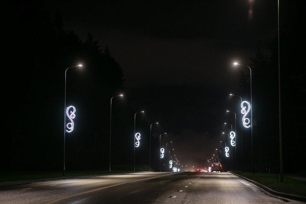 Vilniaus gatvės jau išpuoštos Kalėdoms (nuotr. Sauliaus Žiūros)