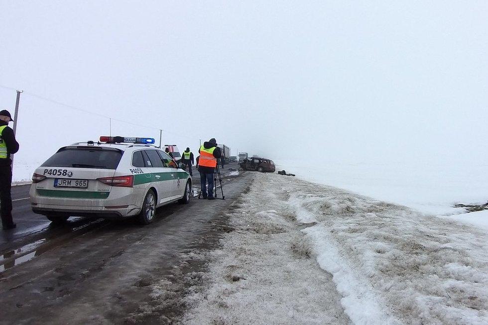 Nelaimė Pasvalio rajone: susidūrė automobilis ir greitoji, žuvo žmogus (nuotr. TV3)
