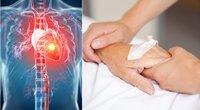 """Kardiologai skambina pavojaus varpais: """"Kasdien nuo širdies ir kraujagyslių ligų miršta daug daugiau žmonių nei nuo COVID-19"""" (tv3.lt fotomontažas)"""