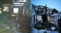 Pasvalio rajone pirmadienį kilęs gaisras iš Linos ir jos šeimos atėmė viską.  (nuotr. asm. archyvo)