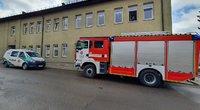 Dėl sprogimo globos namų katilinėje sukeltos specialiosios tarnybos (nuotr. Broniaus Jablonsko)