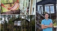 Antano svajonės išsipildymas: pasakiški nameliai medyje (nuotr. asmeninio archyvo/tv3.lt fotomontažas)