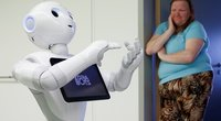 """Robotas """"Pepper"""" jau dirba Ostendės ligoninėse (nuotr. SCANPIX)"""