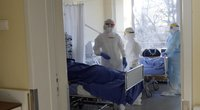 Vilniaus miesto klinikinės ligoninės Covid-19 reanimacija (nuotr. stop kadras)