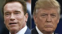 Arnoldas Schwarzeneggeris ir Donaldas Trumpas (nuotr. SCANPIX)