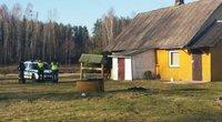 Nusikaltimo vietoje Gaižėnų kaime (nuotr. tv3.lt)