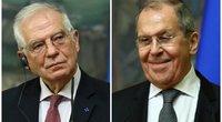 J. Borrellis ir S. Lavrovas (nuotr. SCANPIX) tv3.lt fotomontažas