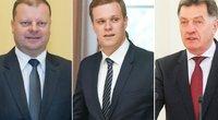 Politinių partijų lyderiai (tv3.lt fotomontažas)