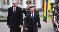 Gitanas Nausėda ir Volodymyras Zelenskis (nuotr. Fotodiena/Matas Baranauskas)