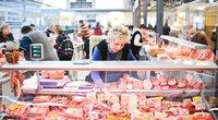 Parduodama mėsa (nuotr. Fotodiena.lt/Simono Švitros)