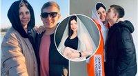 Lieknėjimo influenserė, savo vyrą iškeitusi į įsūnį ir dabar besilaukianti jo kūdikio, pripažino pasidariusi plastinę operaciją, kad išliktų jam patraukli (nuotr. Instagram)