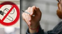 Nuo šių metų sausio pirmosios įsigaliojo įsakymas draudžiantis daugiabučių balkonuose rūkyti (tv3.lt fotomontažas)