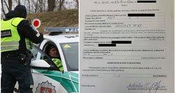 """Šiauliuose policijos sustabdyta moteris liko be žado: išrašė """"pagyrimo protokolą"""""""